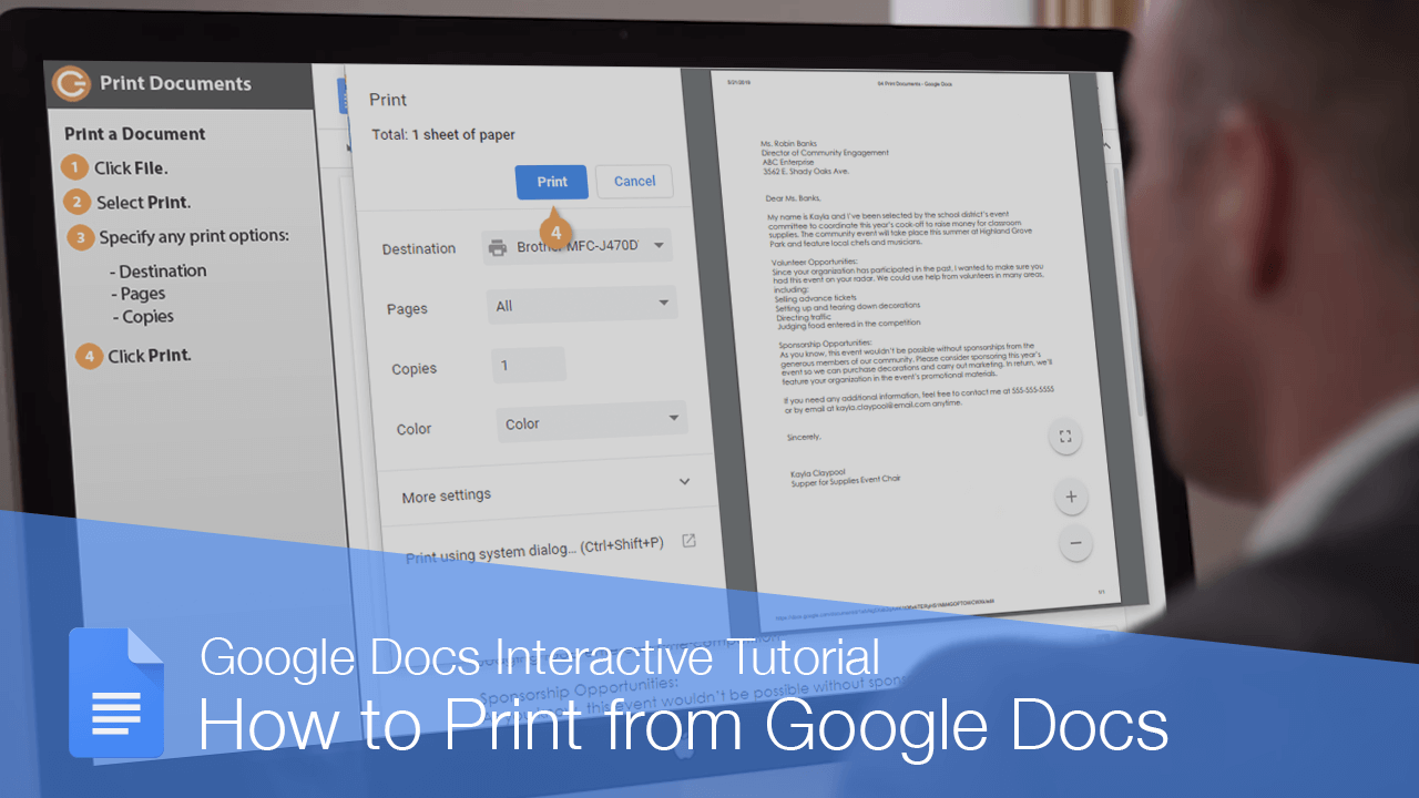 How to Print from Google Docs
