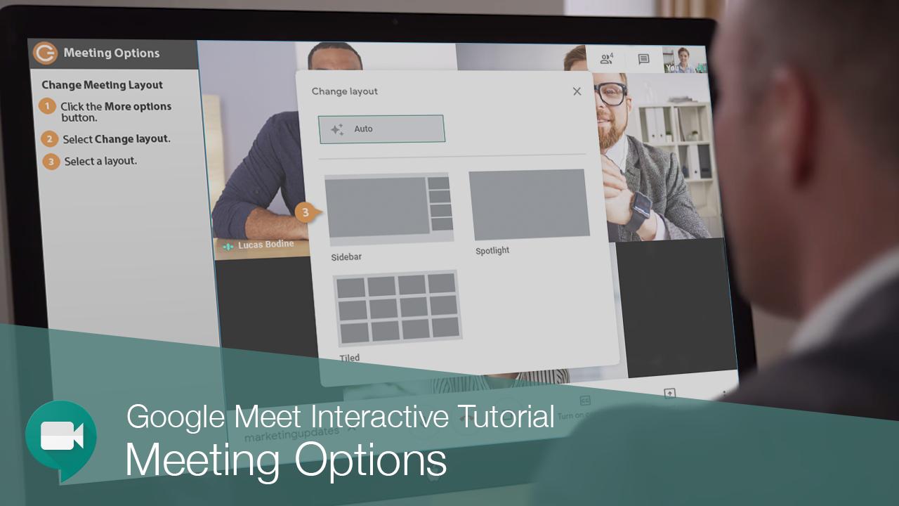 Customize Google Meet Options