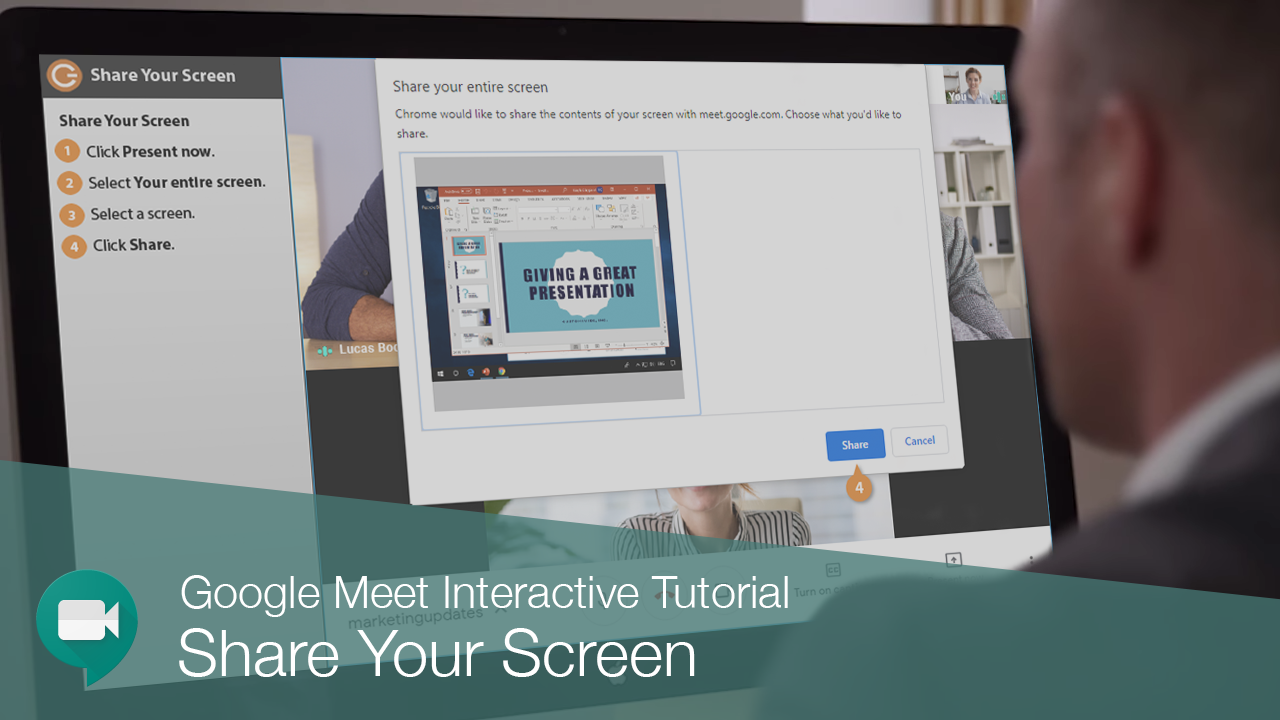 Share Your Screen in Google Meet