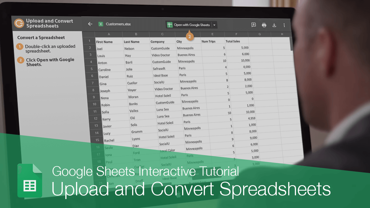 Upload and Convert Spreadsheets
