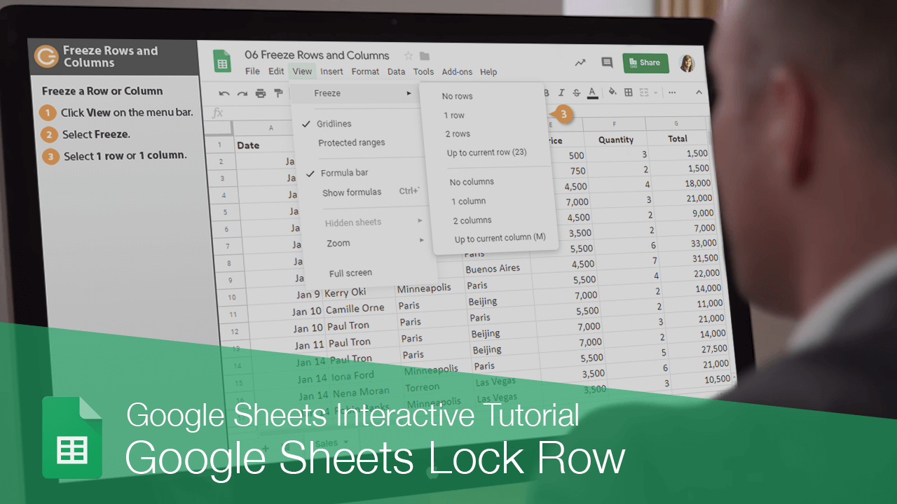 Google Sheets Lock Row