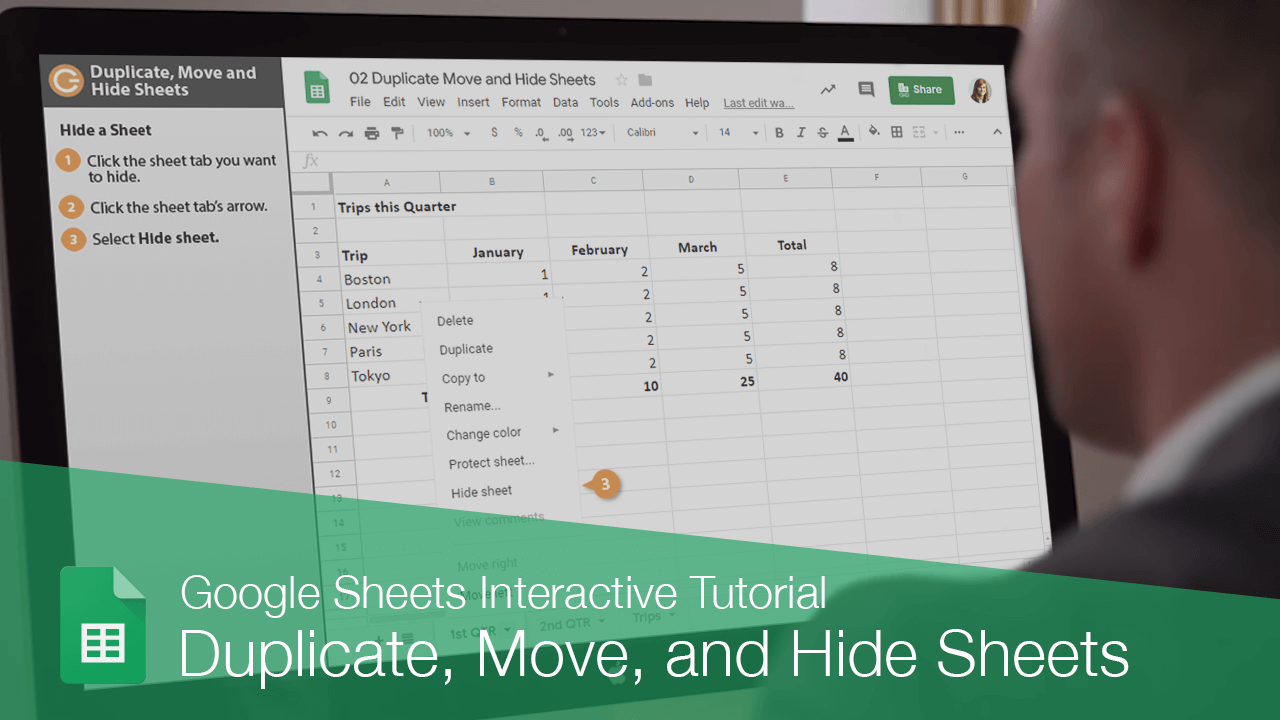 Duplicate, Move, and Hide Sheets