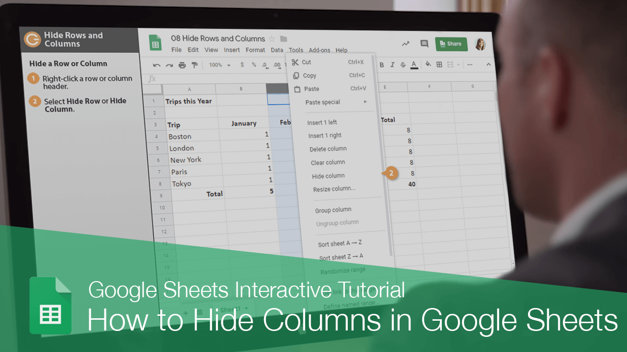 How to Hide Columns in Google Sheets