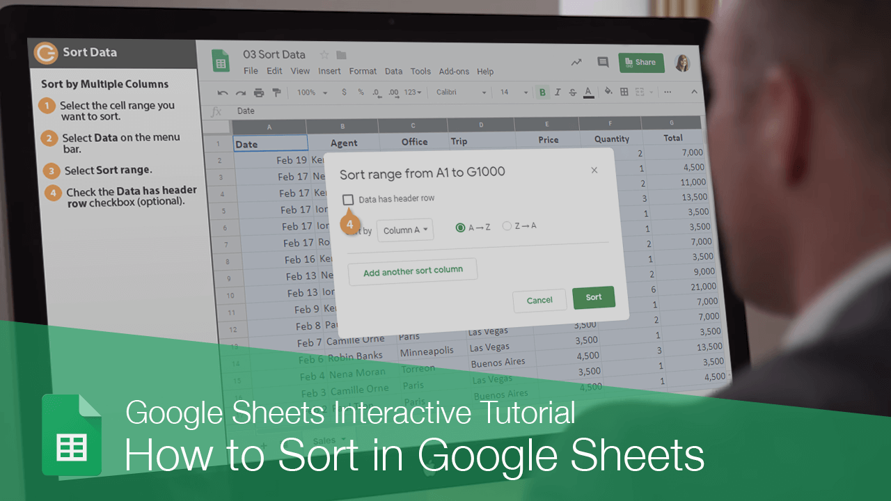 How to Sort in Google Sheets