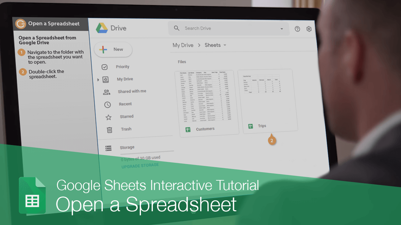 Open a Spreadsheet