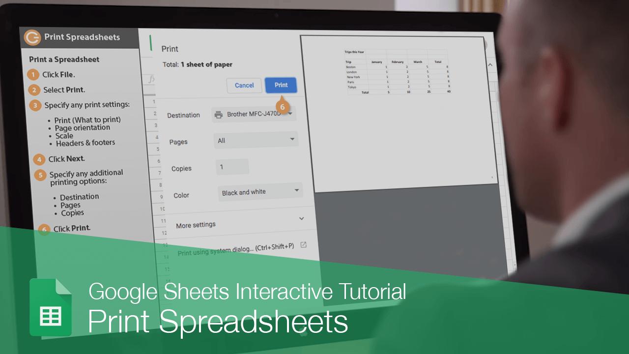 Print Spreadsheets