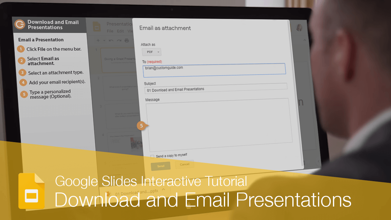 Download and Email Presentations