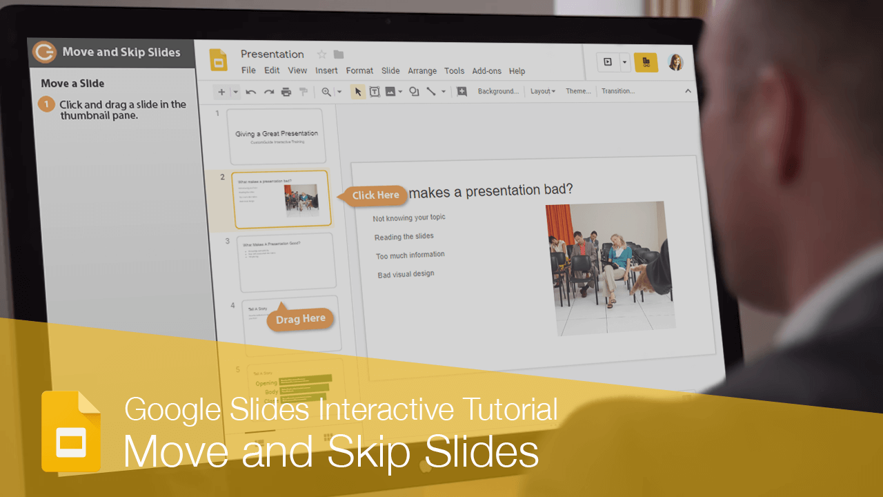 Move and Skip Slides