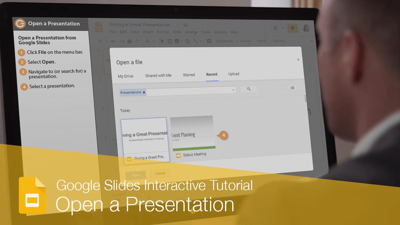 Open a Presentation