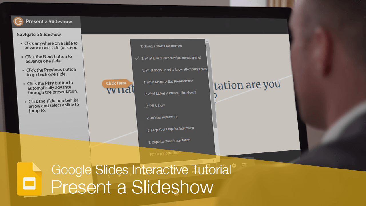 Present a Slideshow