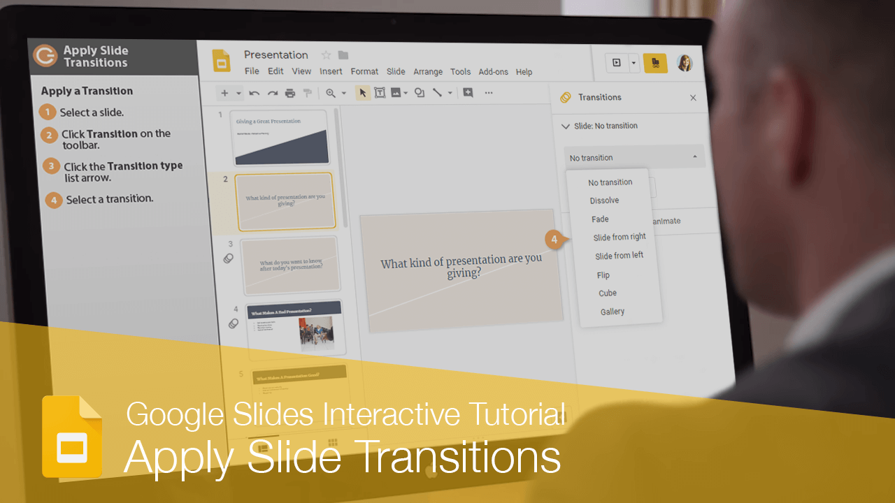 Apply Slide Transitions