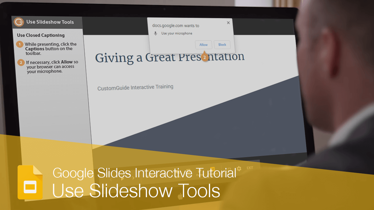 Use Slideshow Tools