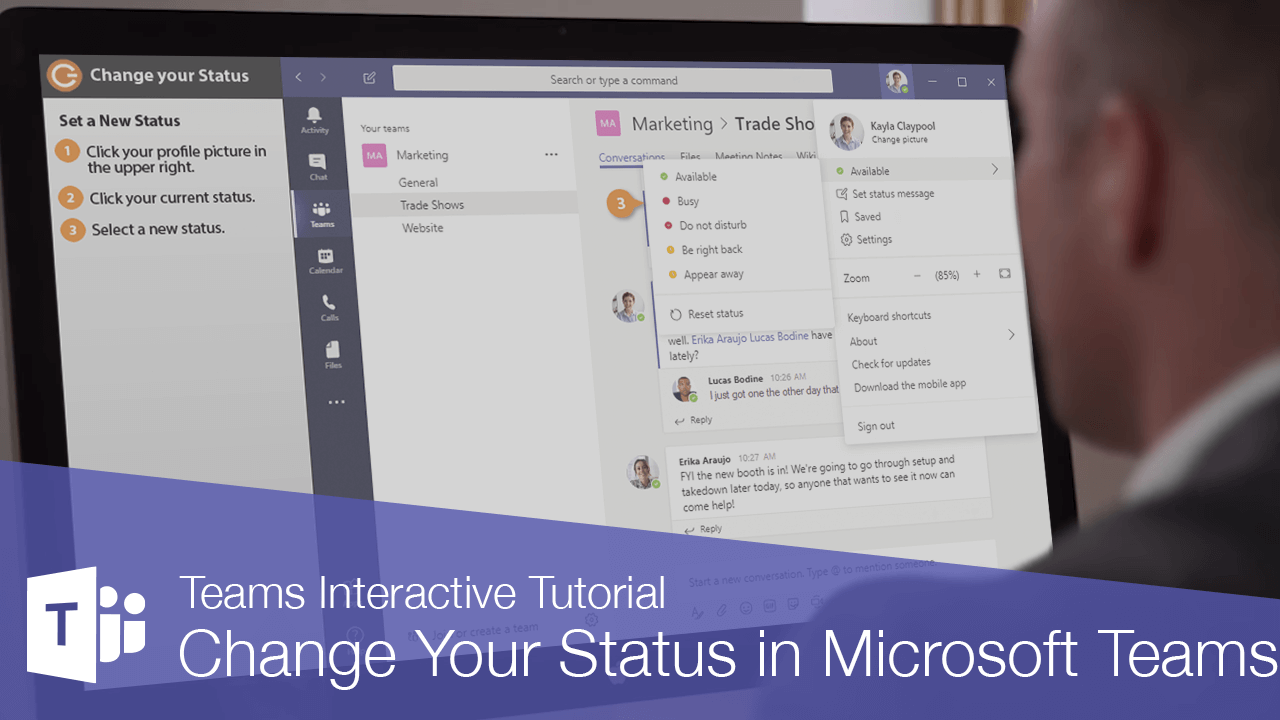 Change Your Status in Microsoft Teams