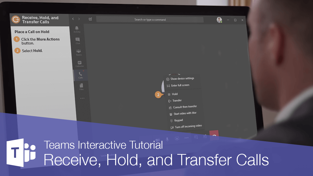 Receive, Hold, and Transfer Calls in Teams
