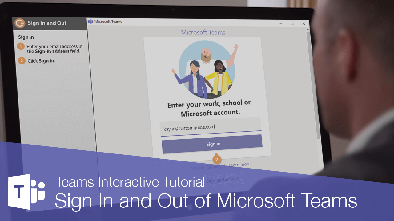 Sign In and Out of Microsoft Teams