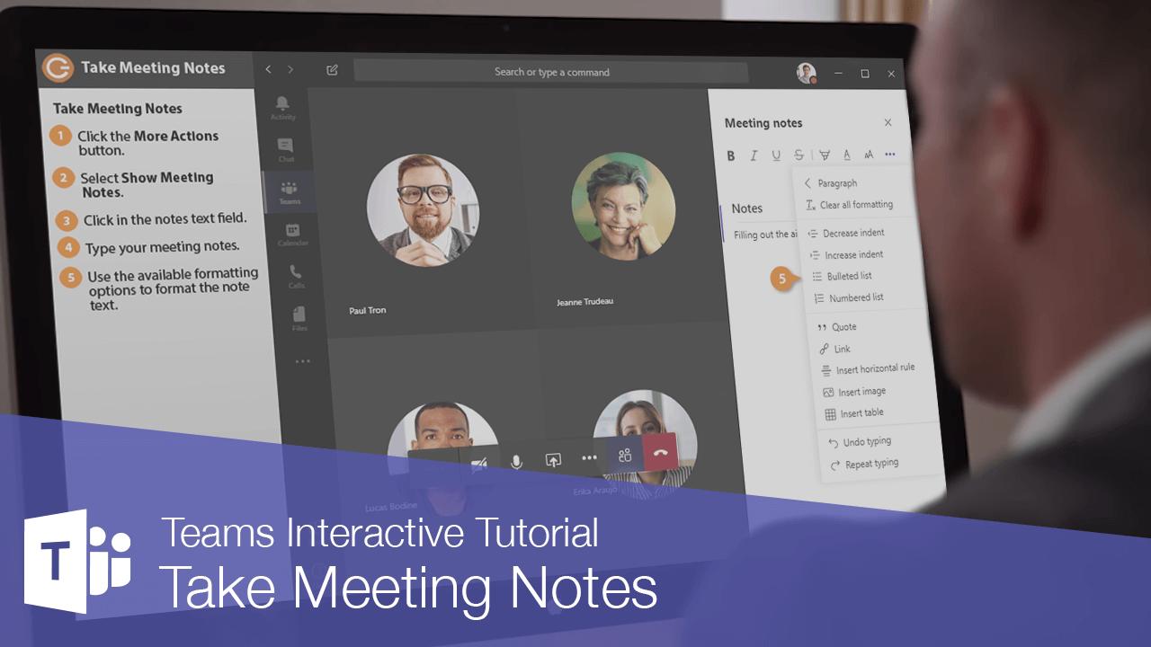 Take Meeting Notes