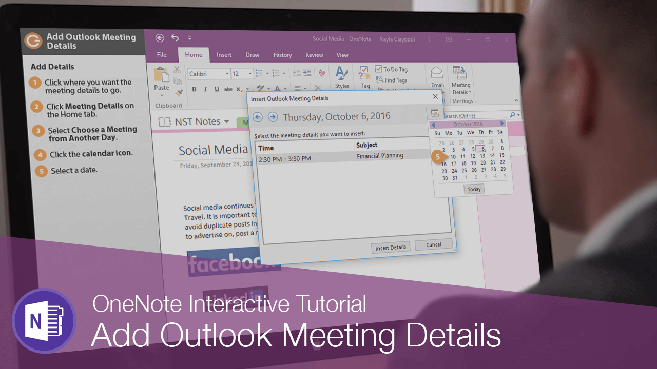 Add Outlook Meeting Details