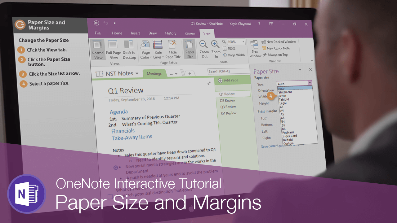 Paper Size and Margins