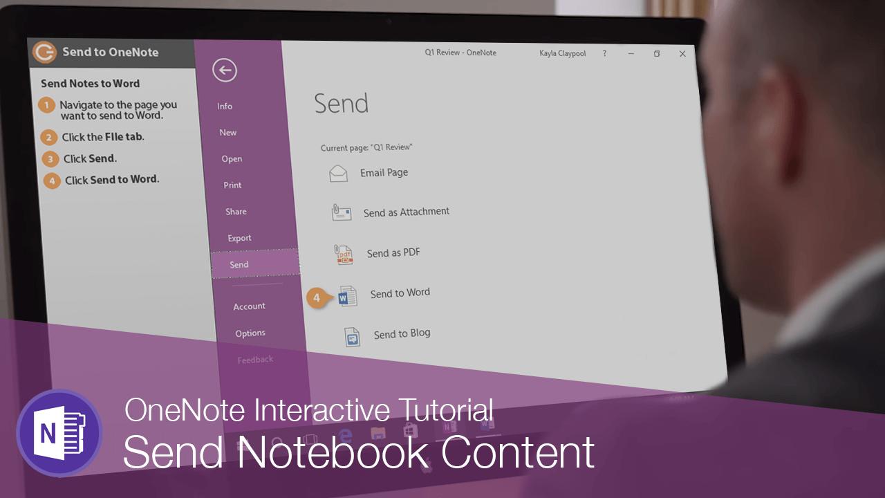 Send Notebook Content