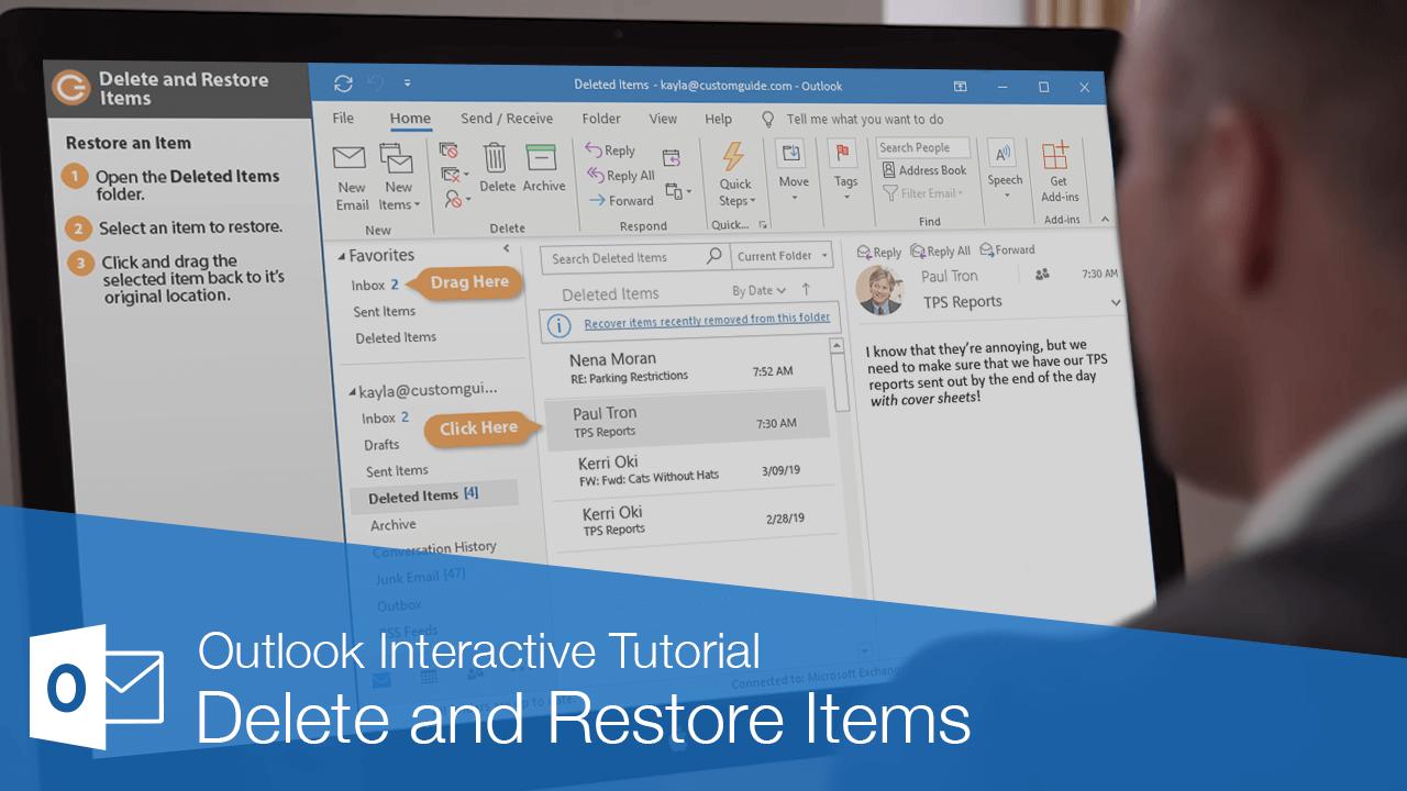 Delete and Restore Items