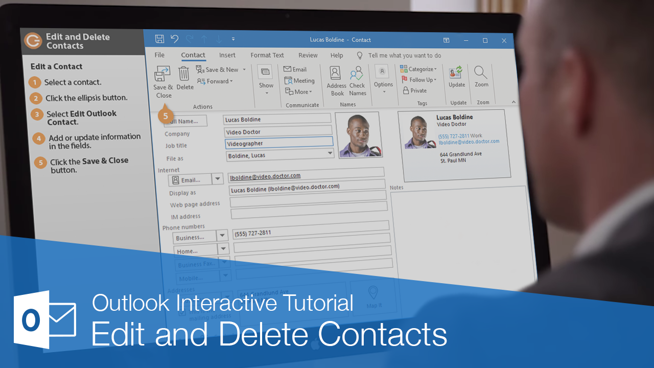 Edit and Delete Contacts