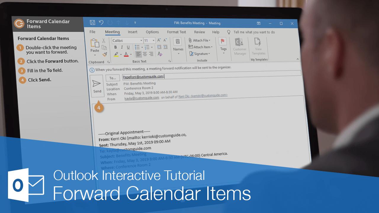 Forward Calendar Items