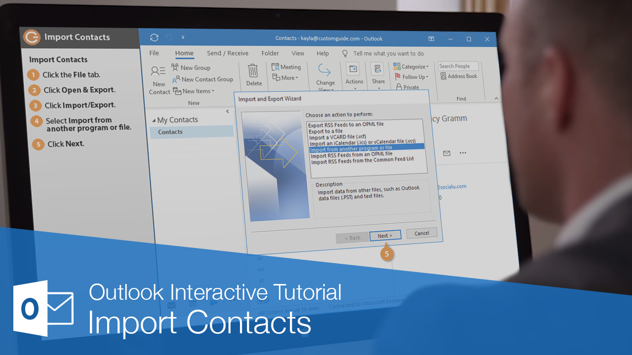 Import Contacts into Outlook