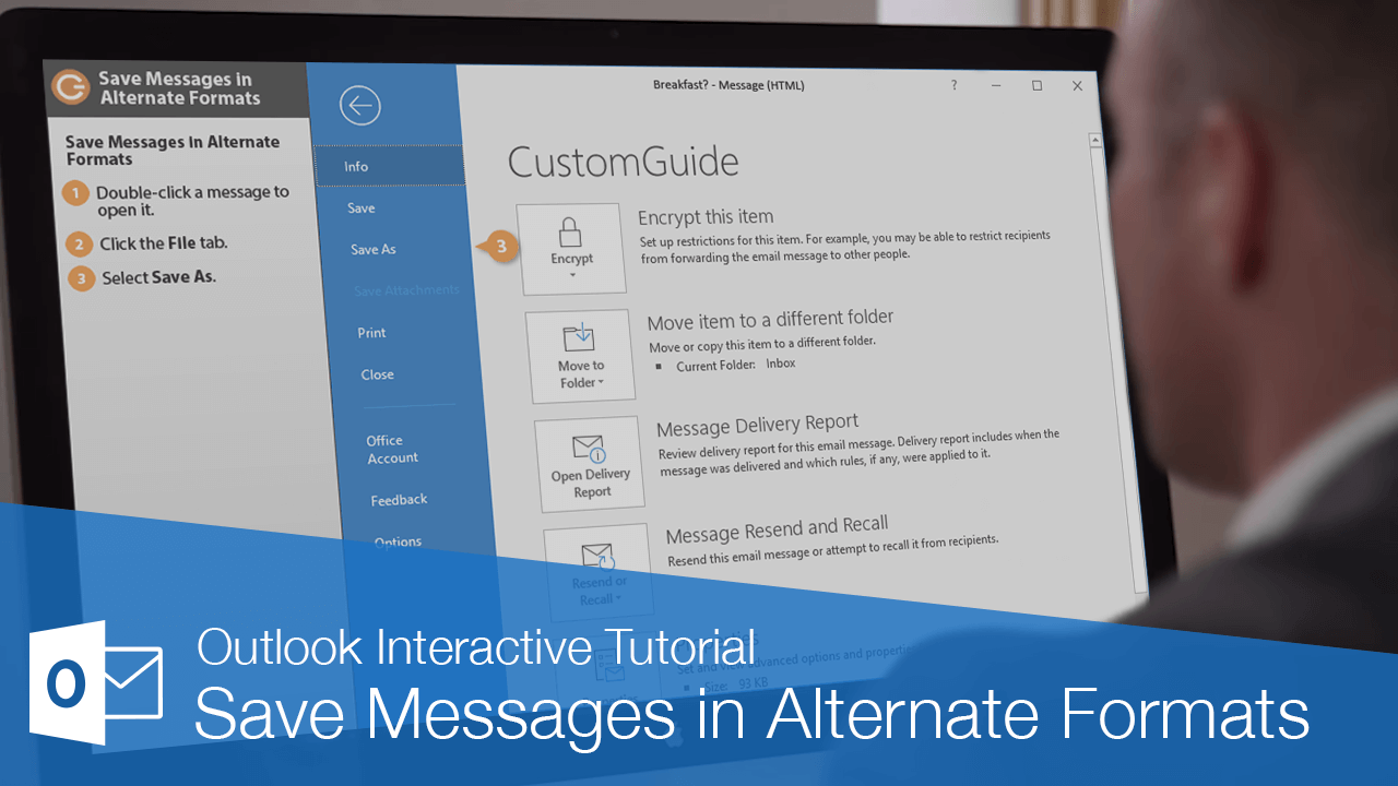 Save Messages in Alternate Formats
