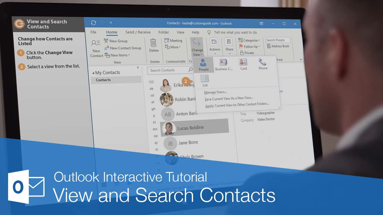 View and Search Contacts