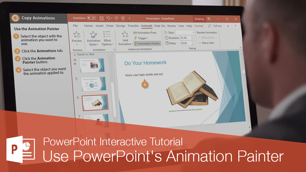 Use PowerPoint's Animation Painter