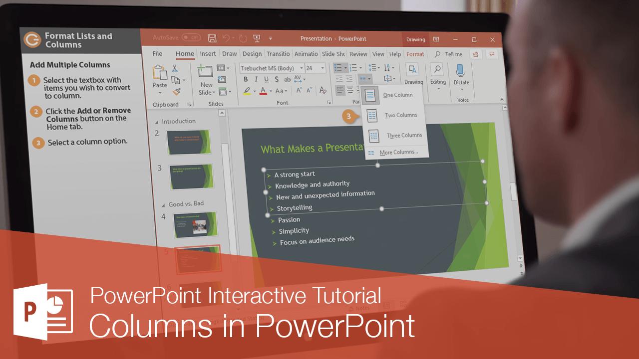 Columns in PowerPoint