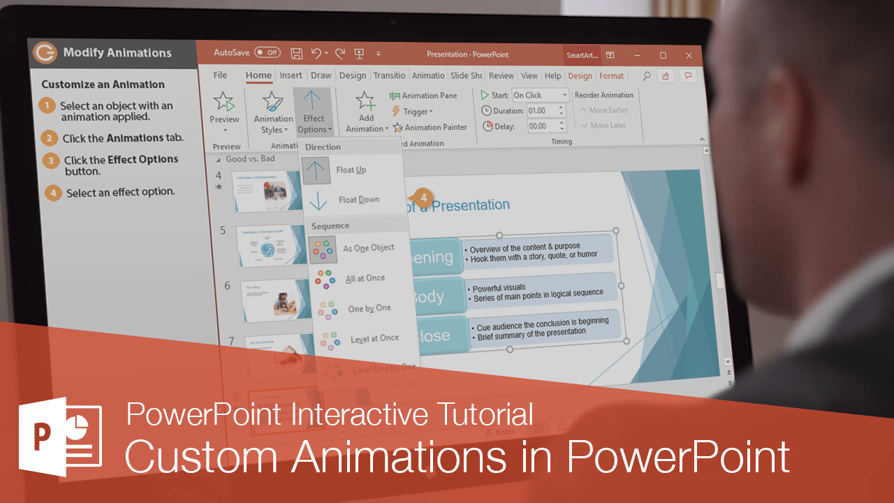 Custom Animations in PowerPoint