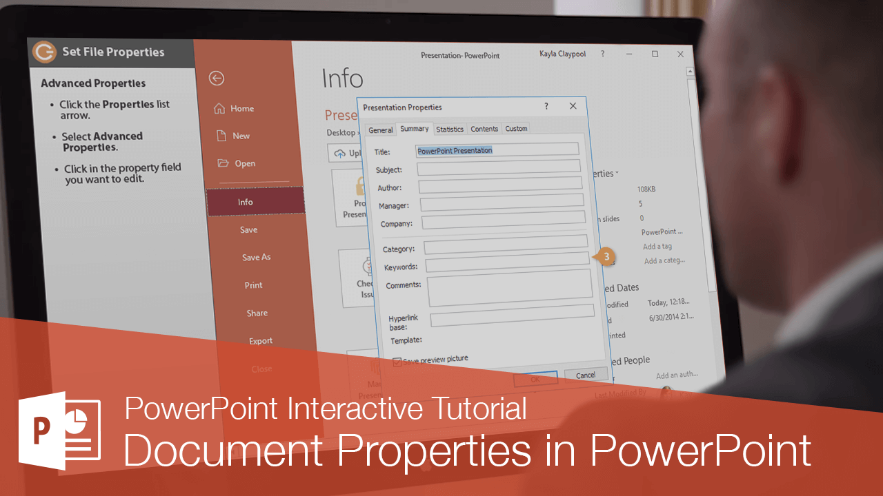 Document Properties in PowerPoint