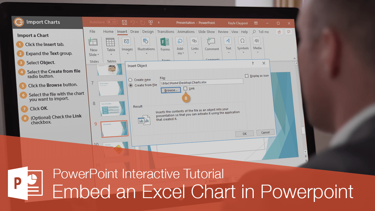 Embed an Excel Chart in Powerpoint