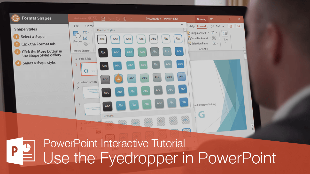 Use the Eyedropper in PowerPoint