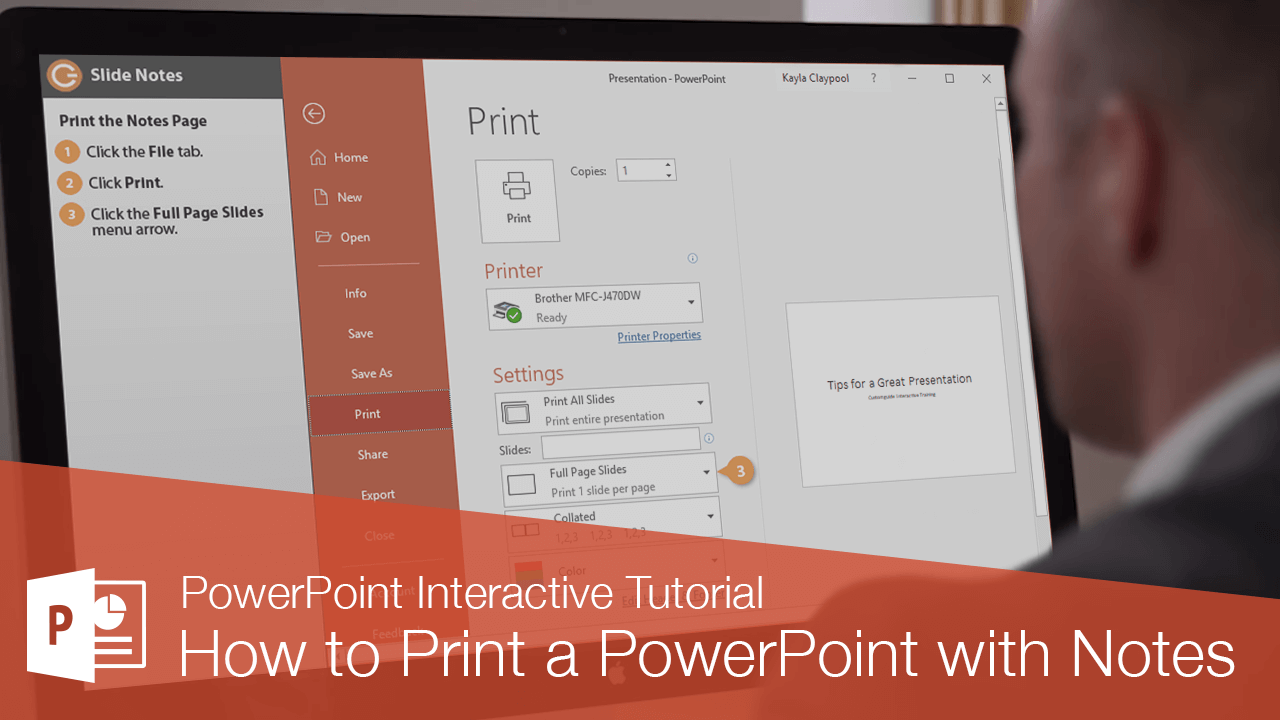 How to Print a PowerPoint with Notes