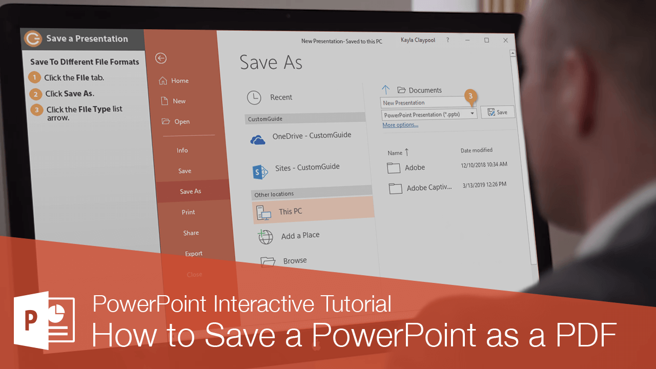 How to Save a PowerPoint as a PDF