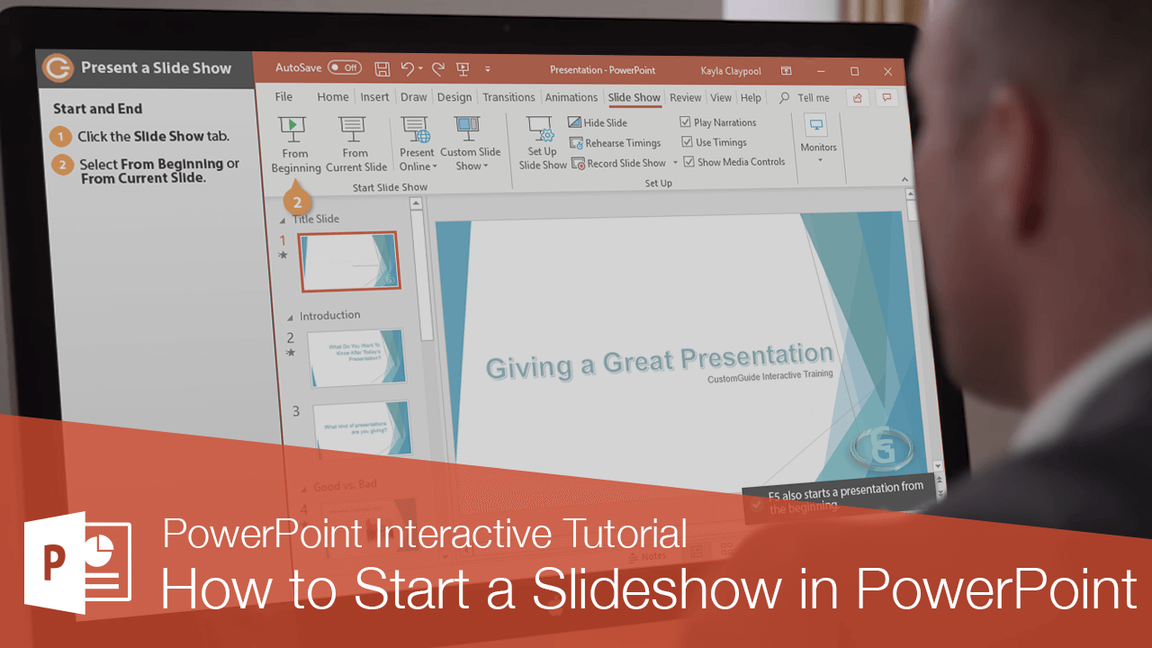 How to Start a Slideshow in PowerPoint