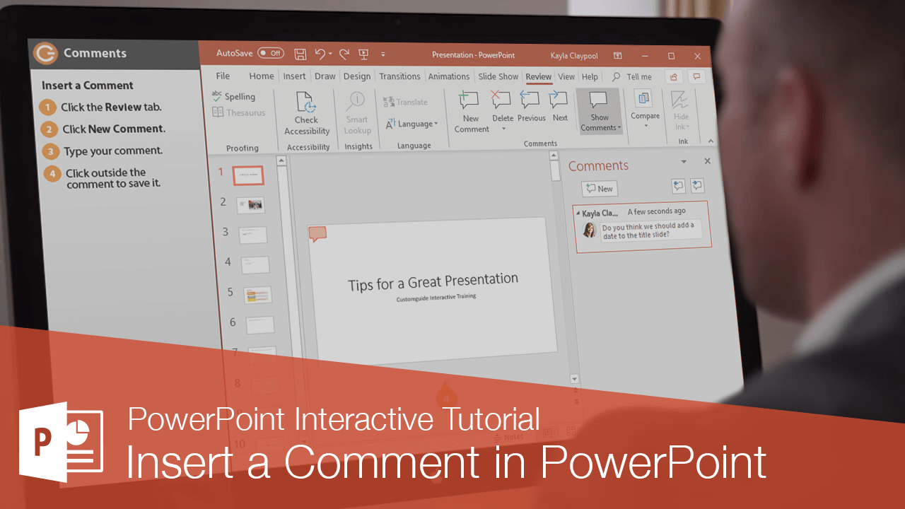 Insert a Comment in PowerPoint