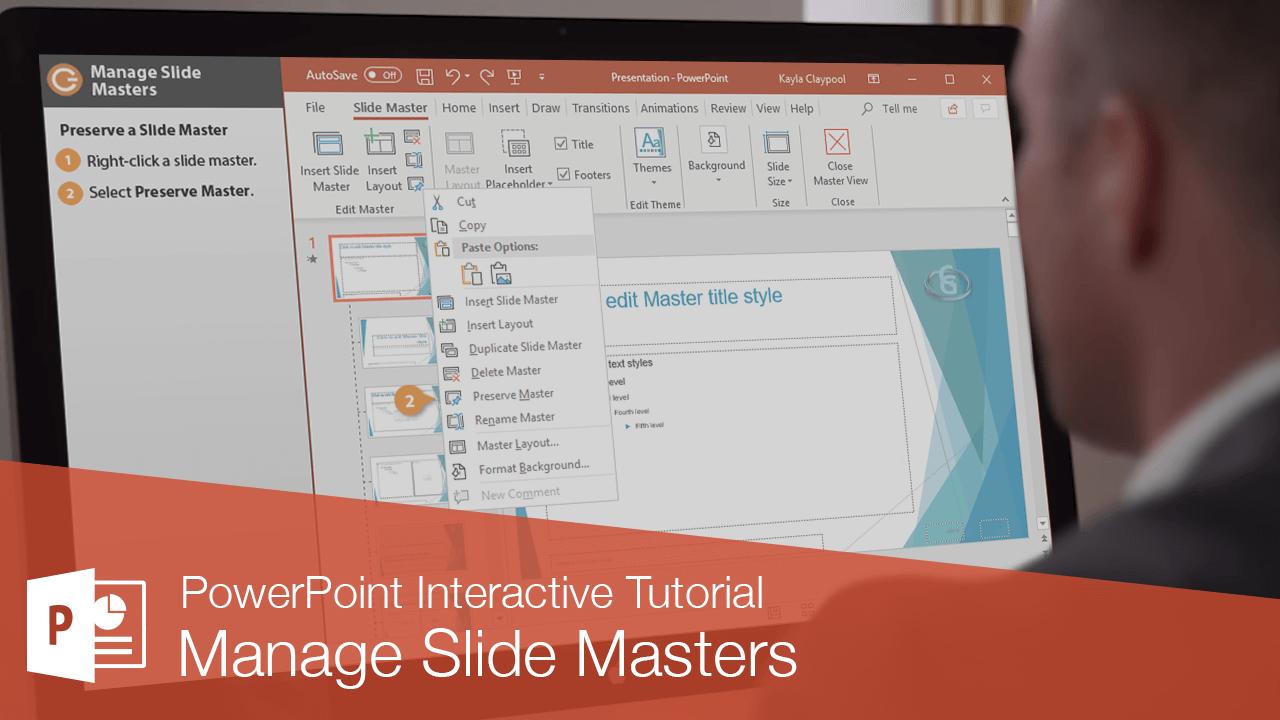Manage Slide Masters