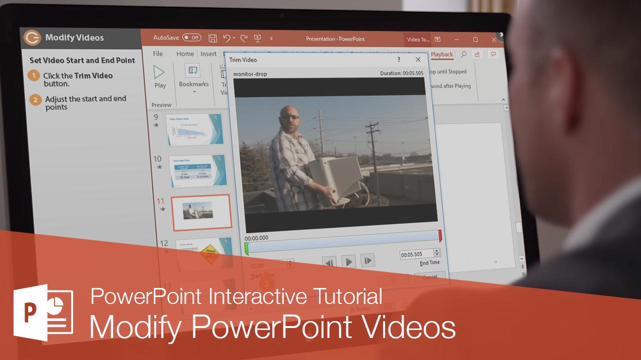 Modify PowerPoint Videos