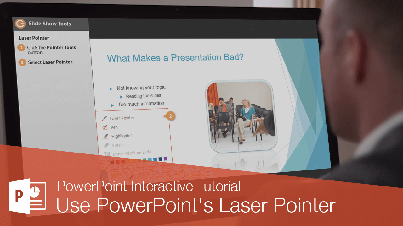 Use PowerPoint's Laser Pointer