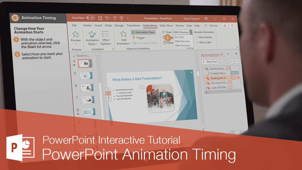 PowerPoint Animation Timing