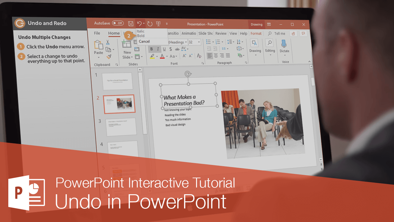 How to Undo and Redo in PowerPoint
