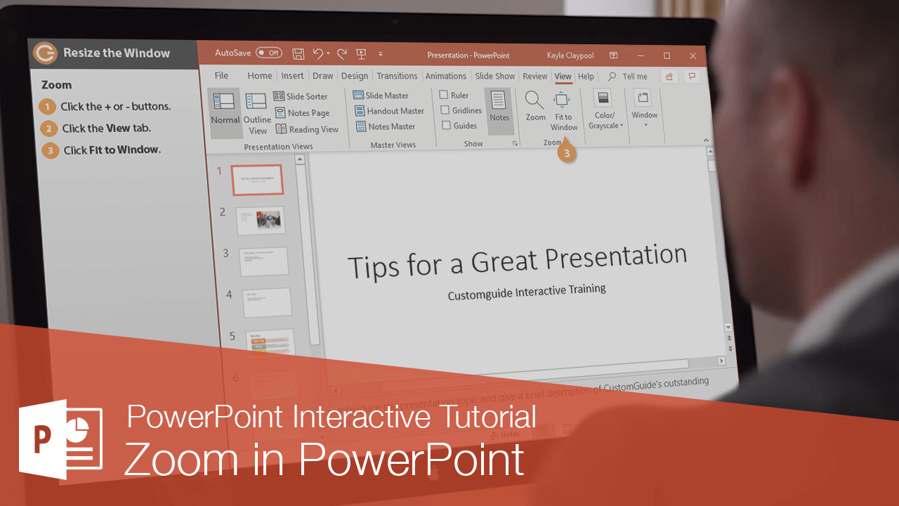 Zoom in PowerPoint
