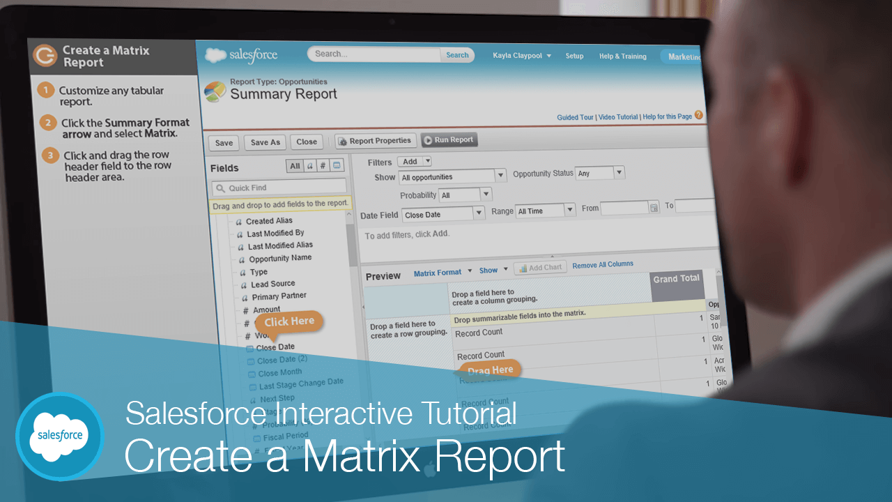 Create a Matrix Report