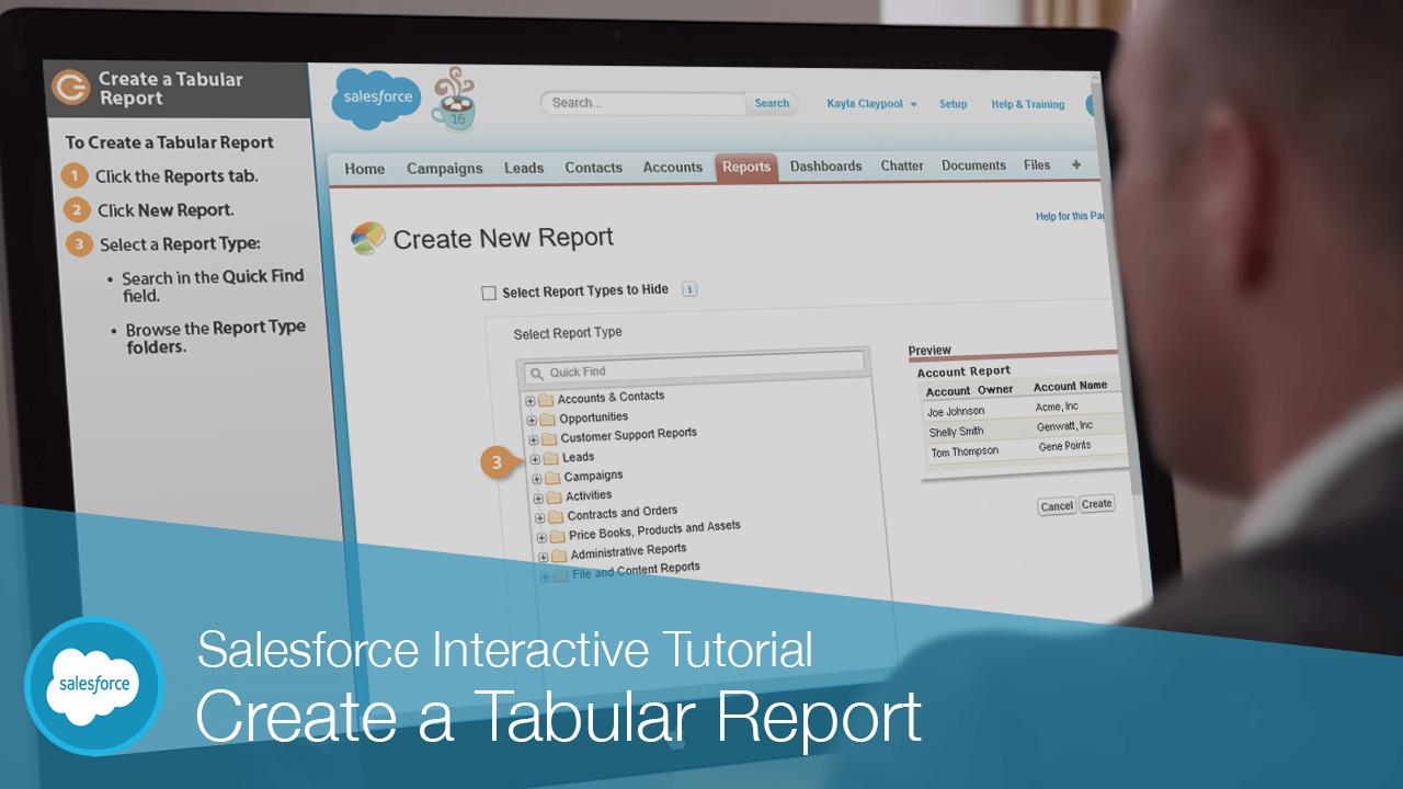 Create a Tabular Report