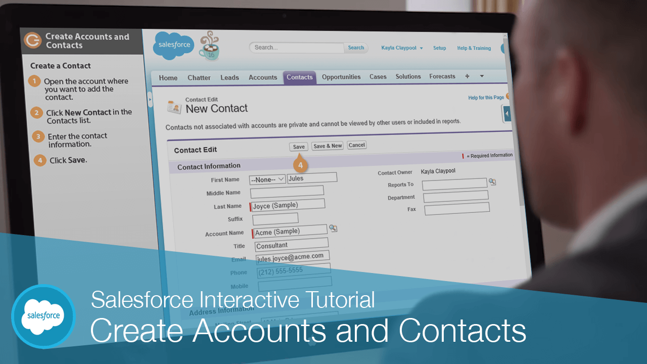 Create Accounts and Contacts