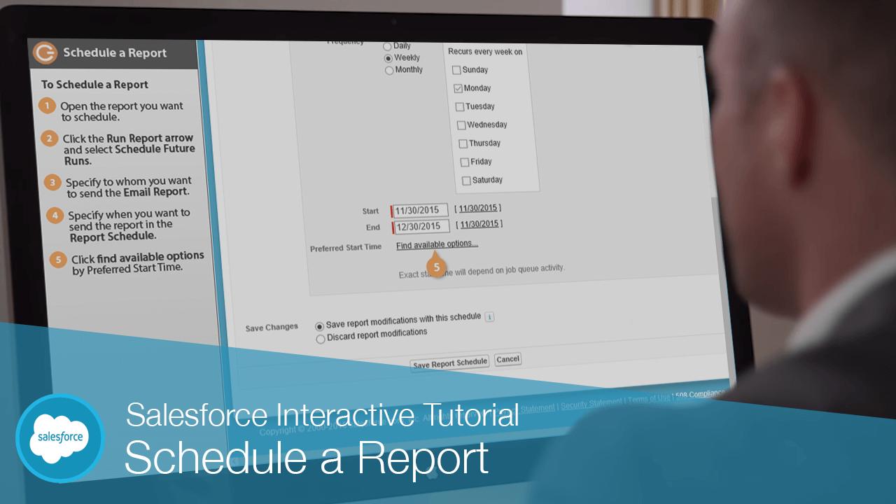 Schedule a Report