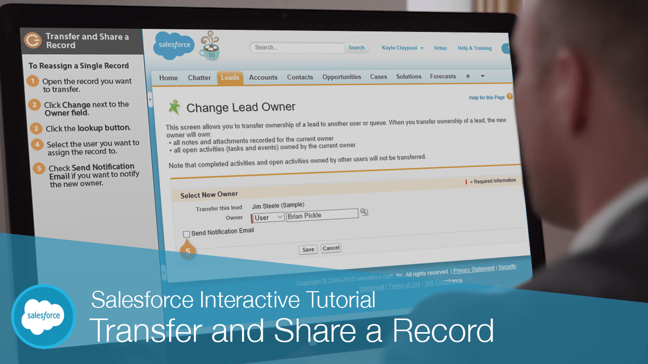 Transfer and Share a Record